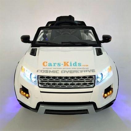 Электромобиль Range Rover Luxury SX118-S (A111AA VIP) белый (колеса резина, сиденье кожа, пульт, музыка)