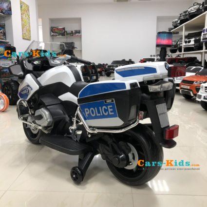 Электромотоцикл BMW R1200RT Police 12V - 212 (колеса резина, кресло кожа, музыка)
